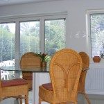 Bi-Folding Doors with Slatted Blinds