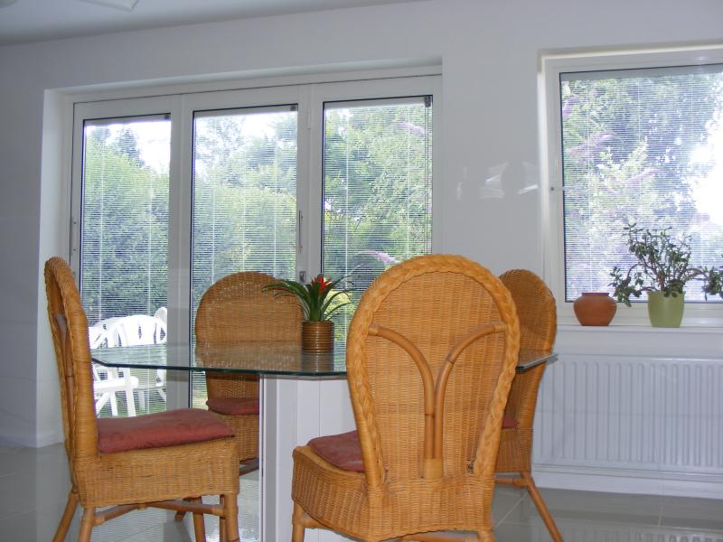 SunSeeker UltraSlim Doors 2cm aluminium frames Bi-Folding Doors with Slatted Blinds ... & Bi Folding Doors UltraSlim Aluminium Frameless Glass Doors