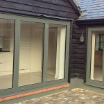 Bi folding Doors, green colour option
