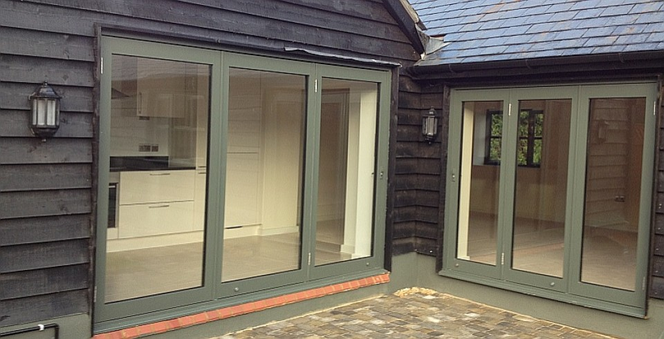 Bi folding Doors, frame colour option