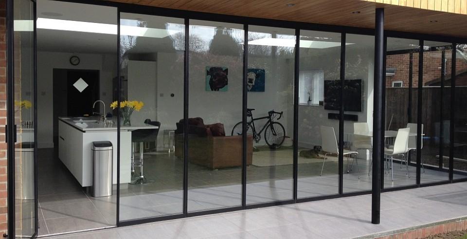 new concept ec2f2 d5863 Bi Folding Doors, Aluminium Slide & Turn, Frameless Glass