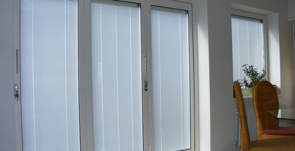 Bifolding Doors with integral blinds