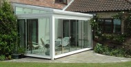 Retractable Frameless Glass Patio Doors