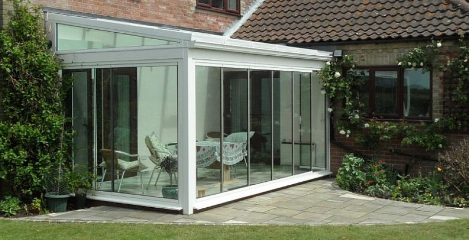 Frameless double glazed doors sunseeker doors for Double glazed porch doors
