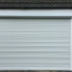 roller shutters closed - white