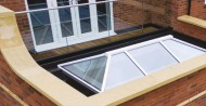 lantern roof + glass balustrade