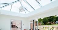 lantern roof + bi folding doors