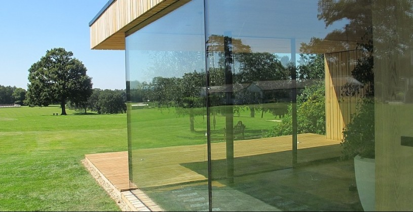 SunSeeker Sightline Large Leaf Glass Patio Doors