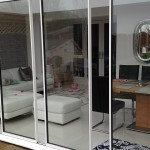 spaced sliding doors
