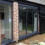 Ultraslim patio doors on barn