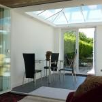 single glazed frameless glass room divider doors