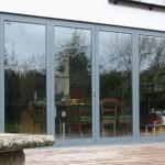 Classic Slimline bi folding doors, grey frames