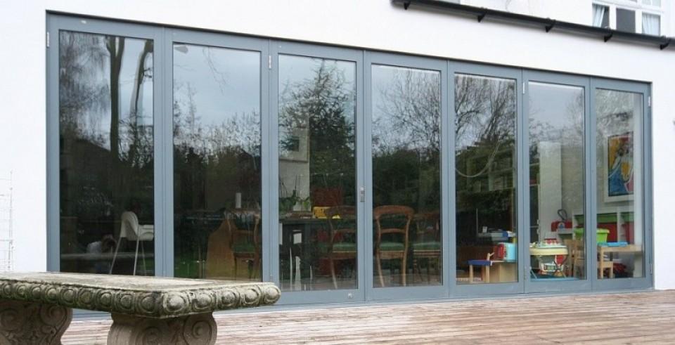 Classic slimline aluminium bi folding doors sunseeker doors classic slimline bifolds grey planetlyrics Image collections