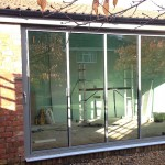 ultraslim patio doors on outbuilding