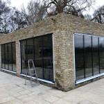 indoor pool with fully retractable door-sets