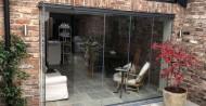 glass doors on summerhouse