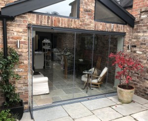 glass doors on summerhouse