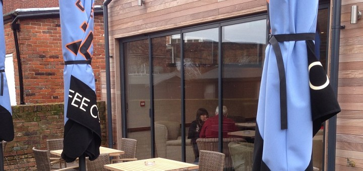 SunSeeker UltraSlim Doors installation at Caffe Nero