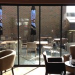 UltraSlim doors at Caffe Nero