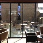 UltraSlim doors at Caffe Nero