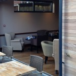 Fully open UltraSlim Doors at Caffe Nero