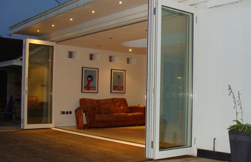 Bi Folding Doors Aluminium Slide Amp Turn Frameless Glass