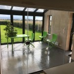 frameless glass doors 2017 looking out towards bifolds