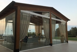 Gazebo with SunSeeker Frameless Glass Doors