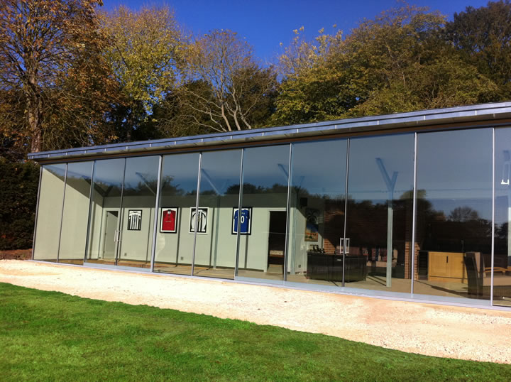 Bi Folding Doors, Aluminium Slide & Turn, Frameless Glass