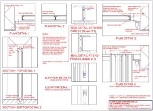 Technical detail - DG-Frameless Glass Doors