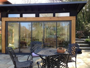 modern extn wood+ultraslim patio doors