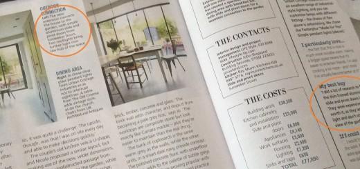 Real Homes mag. featuring SunSeeker UltraSlim: slide-pivot doors