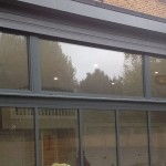 aluminium framed double glazed panels