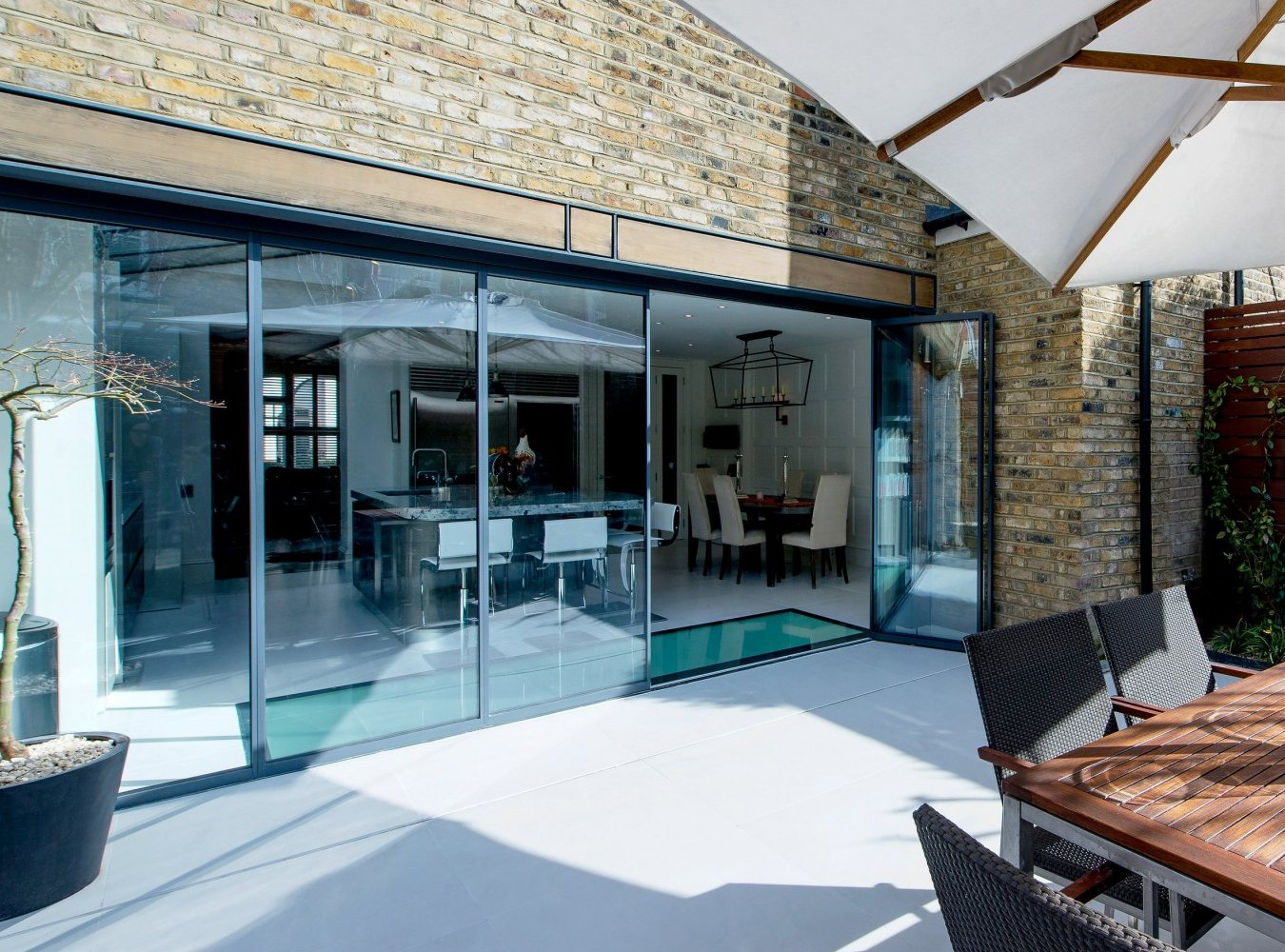 sunny patio, UltraSlim doors